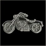 Black Colored Motorcycle Pin