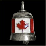 Colored Canadian Flag Gremlin Bell