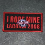 "2008 ""I RODE MINE"" Laconia Red Pin & Patch"