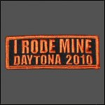 "2010 ""I RODE MINE"" Daytona Orange Patch"