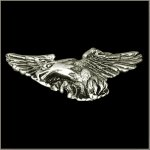 3-D Hunting Eagle Lapel Pin