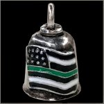Thin Green Line American Flag Gremlin Bell