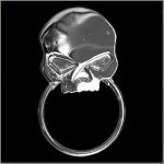 Half Skull Sunglass Holder Pin