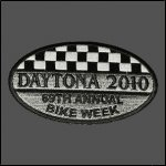 Checkered Daytona 2010 Bike Week Patch