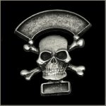 Double Line Skull n Crossbones Event Pin