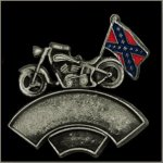 Double Line MC Rebel Flag Event Pin