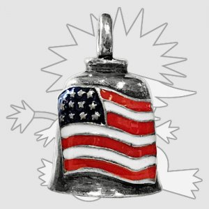 Colored American Flag Gremlin Bell