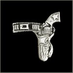 Gun in Holster Biker Pin