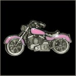 Pink Colored Motorcycle Pin