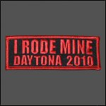 "2010 ""I RODE MINE"" Daytona Red Patch"